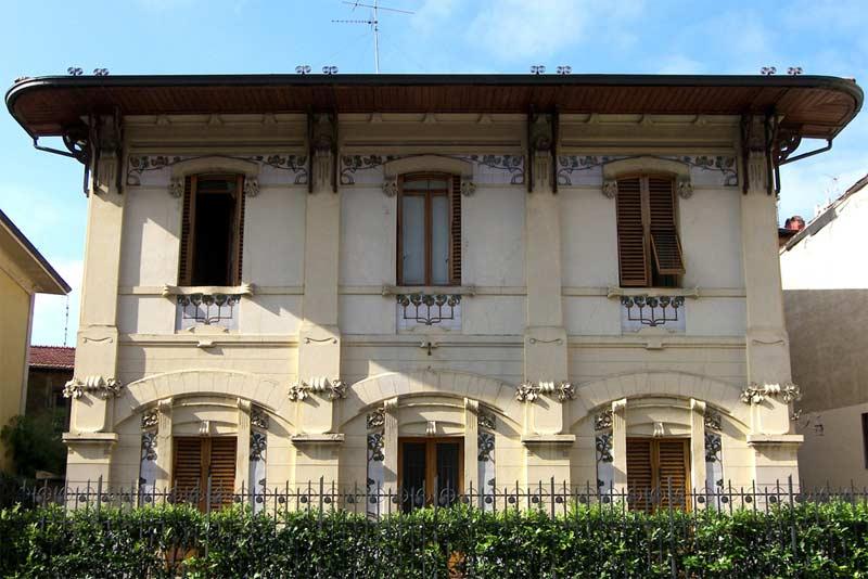 Villino ravazzini firenze liberty for Architettura moderna ville